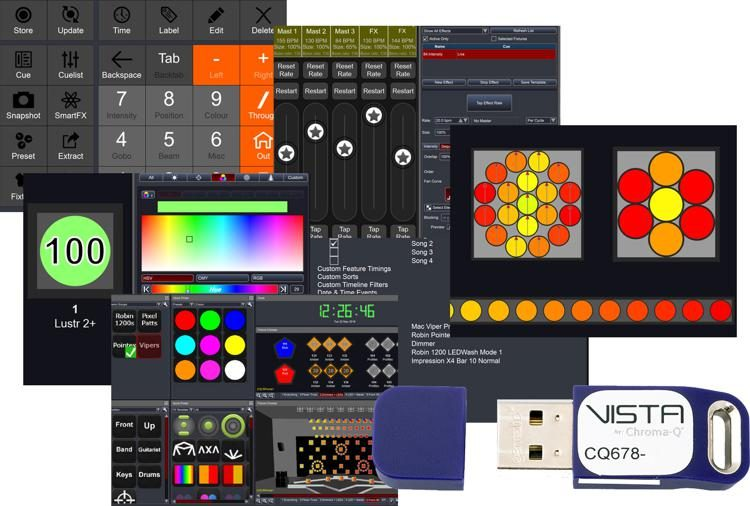 Chroma q vista app software lighting controller ch dongle