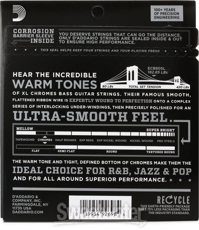 DAddario Single Bass Chromes Flat Wound .055 Long Scale  Strings