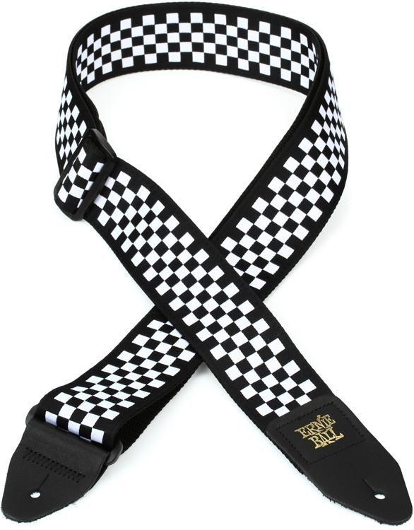 Ernie Ball Black and White Checkered Strap
