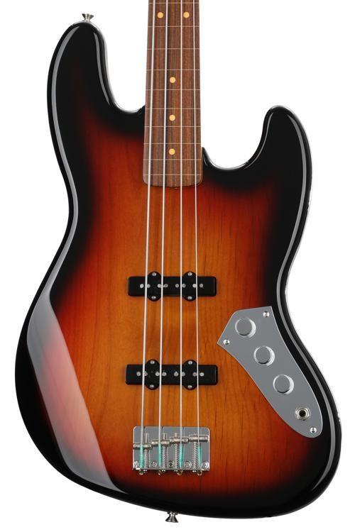 Fender Jaco Pastorius Fretless Jazz Bass - 3-Color Sunburst. 4-string Electric Bass ...