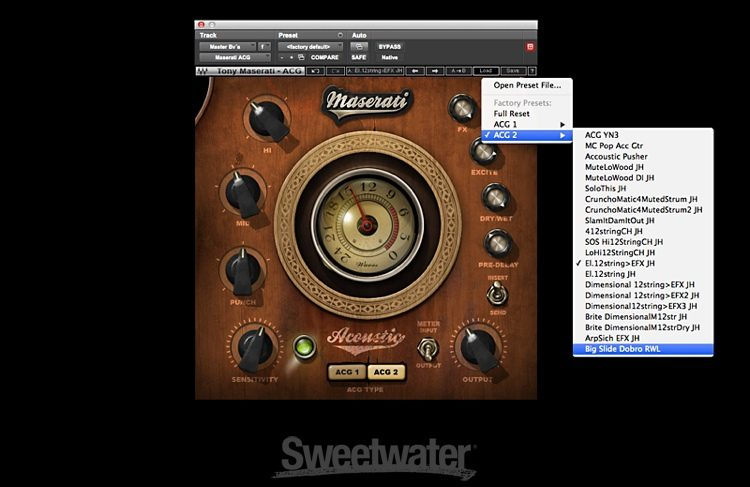 Waves Maserati Acg Acoustic Guitar Designer Plug In Sweetwater