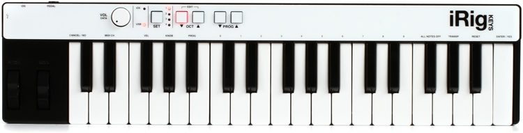 iRig Keys 37-key Controller for iOS, Android, and Mac/PC