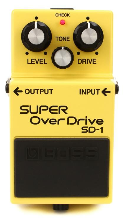 boss sd 1 super overdrive pedal sweetwater