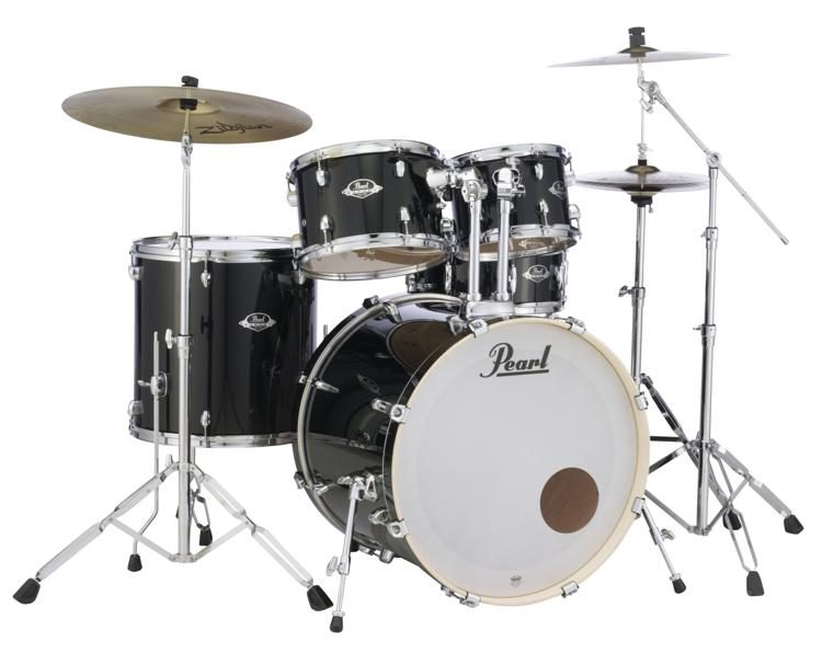 Pearl Export Exx 5 Piece Drum Set With Cymbals Hardware Jet