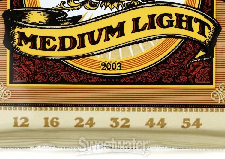 .012-.054 Medium Light NEW Ernie Ball 2566 Aluminum Bronze Acoustic Strings