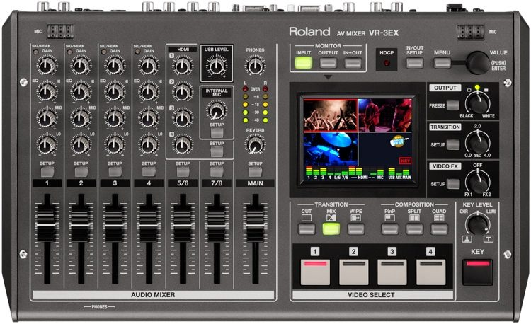 VR3-EX - AV Mixer w/ Web Streaming
