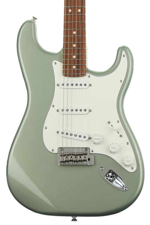 fender player series stratocaster sage green metallic w pau ferro