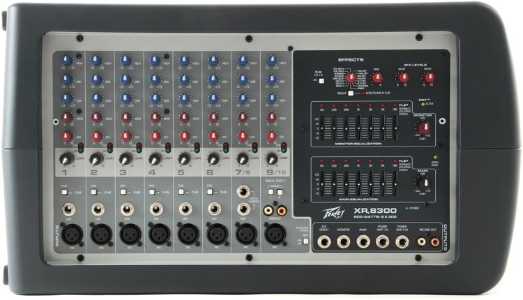 peavey xr 8300 sweetwater rh sweetwater com peavey xr8300 powered mixer review Portable Powered Mixer Peavey XR 600
