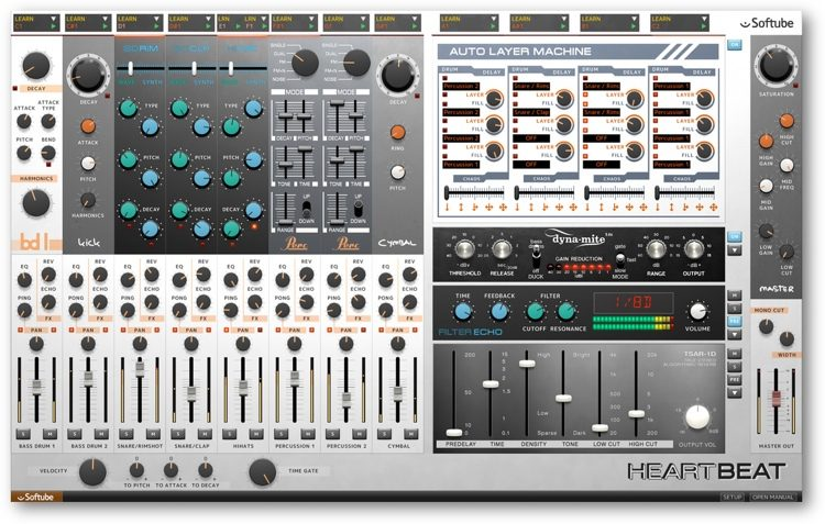 Heartbeat Drum Synth Plug-in