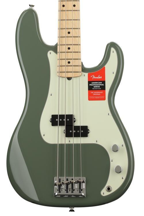 c3f2f50367 Fender American Professional Precision Bass - Antique Olive w/ Maple  Fingerboard image 1