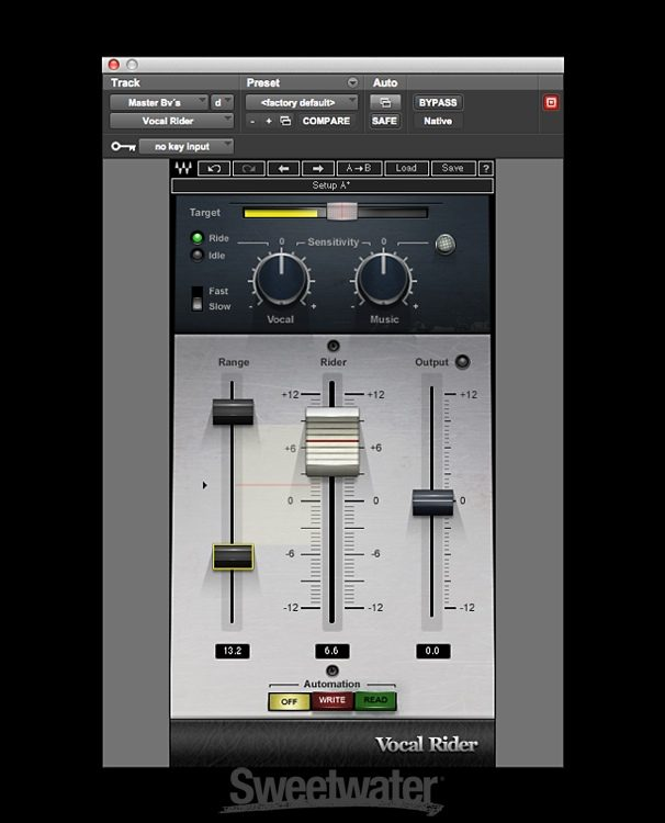 Waves Vocal Rider Plug-in | Sweetwater