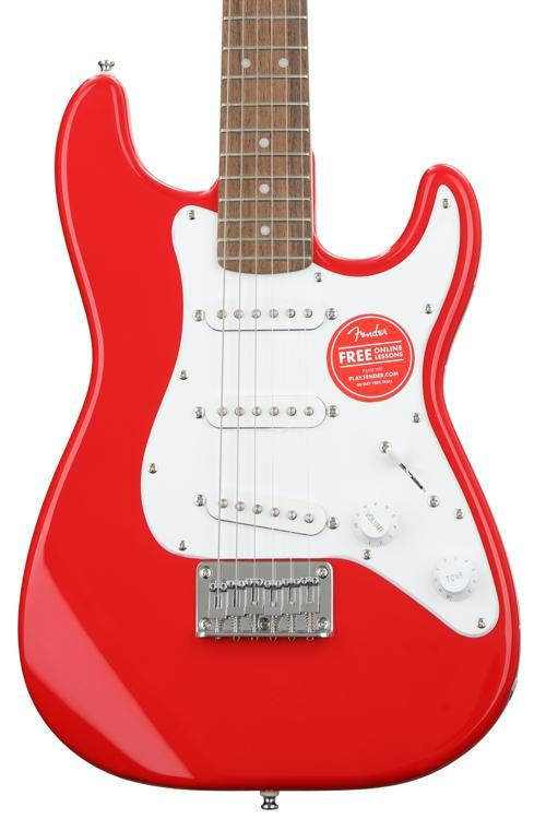 d0b6e1a67d Squier Mini Strat - Torino Red w/ Laurel Fingerboard. Short-scale Solidbody Electric  Guitar ...