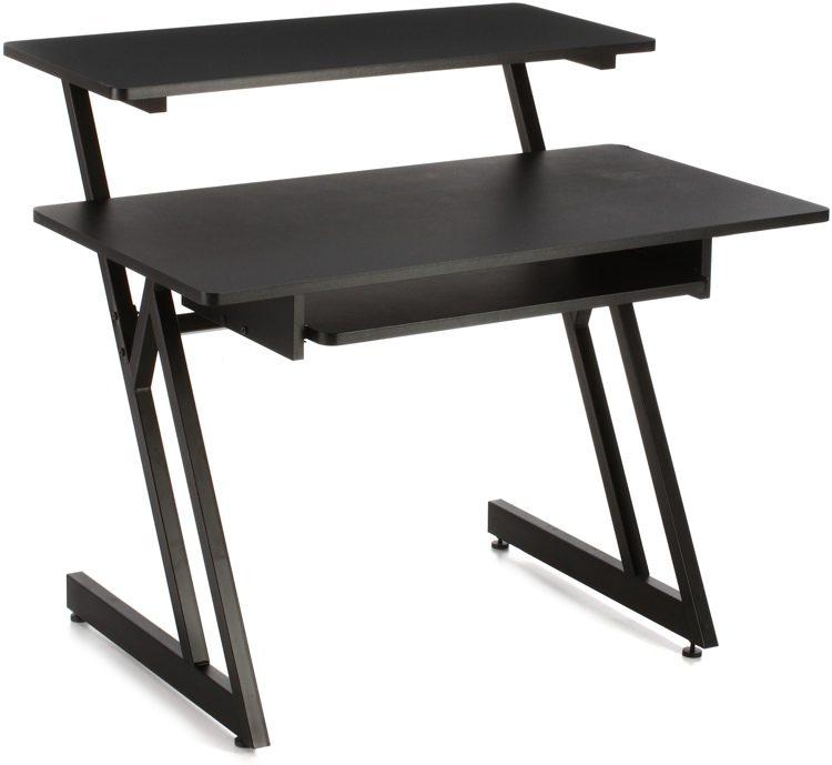On Stage Stands WS7500 Wooden Workstation   Black Image 1