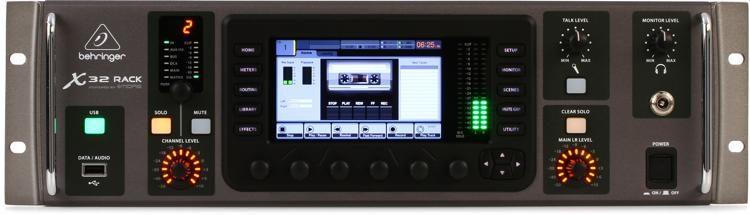 behringer x32 rack digital mixer sweetwater