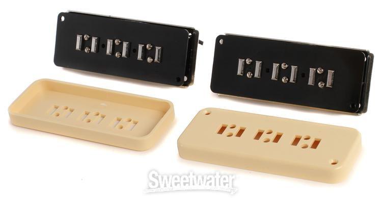 NEW Black or Cream Alnico V STAPLE P90 Soap Bar Guitar Pickup Bridge or Neck