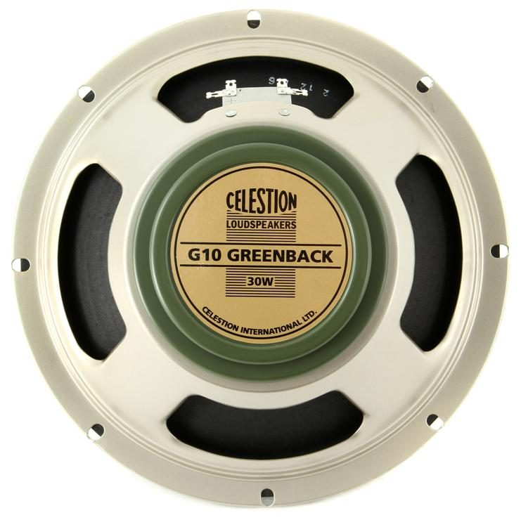 Image result for Celestion G10 Greenback Electric guitar Speaker, 8 Ohm
