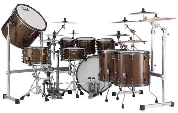 Masterworks Urban Exotic 9-piece Shell Pack - Brown Lacquer over Zebrawood