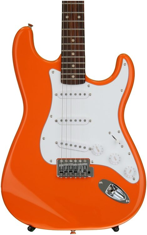 squier affinity stratocaster competition orange w rosewood