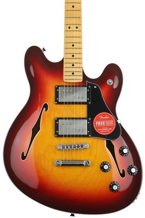 Fender Modern Player Starcaster Aged Cherry Sunburst Sweetwater