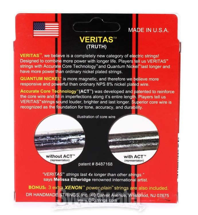 DR Strings VTE-9 Veritas Electric Guitar String 9-42