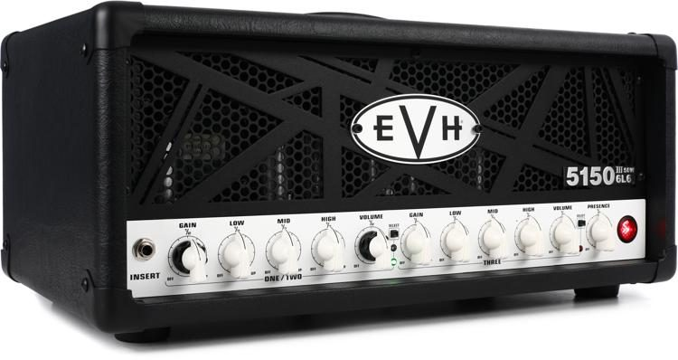 949b39aa332 EVH 5150 III 50-watt Tube Head - Black image 1