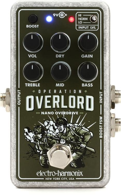 EHX Electro Harmonix Operation Overlord Allied Overdrive Guitar Effects Pedal