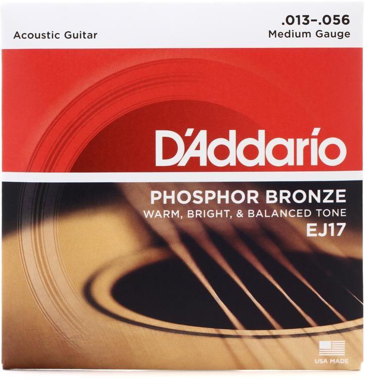 D Addario Ej17 Phosphor Bronze Medium Acoustic Strings Sweetwater