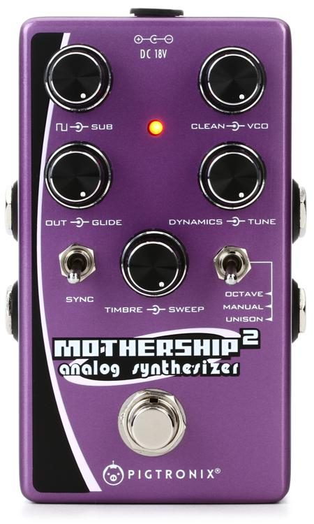 pigtronix mothership 2 analog synthesizer pedal sweetwater