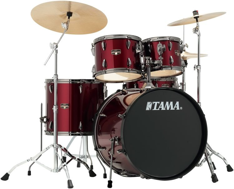 Tama Imperialstar Complete Drum Set 5 Piece Vintage Red With