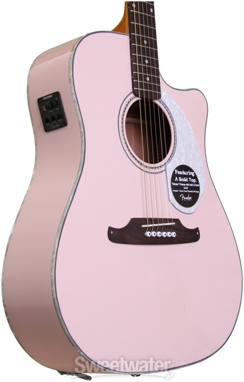 cceb827df3 Fender Sonoran SCE - Shell Pink with Matching Headstock | Sweetwater