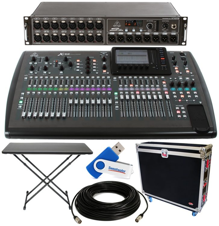X32 32-channel Digital Mixer Package - w/Tour Hard Case and Digital Snake