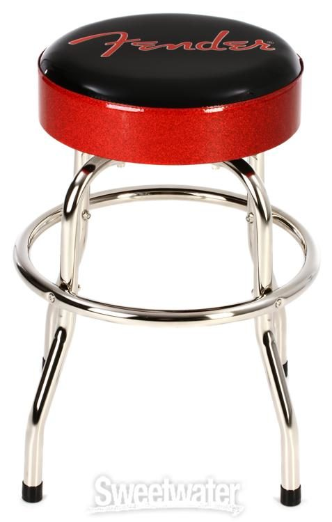 Surprising Fender Red And Black Logo Barstool 24 Sweetwater Camellatalisay Diy Chair Ideas Camellatalisaycom