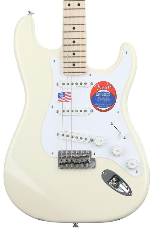 fender eric clapton stratocaster olympic white with maple rh sweetwater com