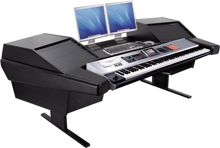 Argosy Dual15k Keyboard Workstation Desk With 803 Racks Black