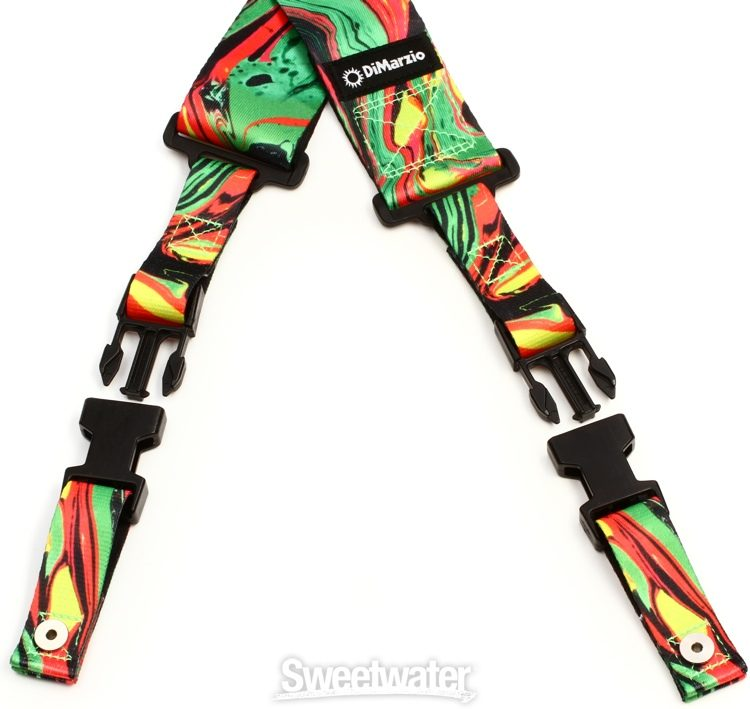 DiMarzio Steve Vai Green Universe 2 Guitar Strap