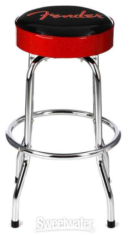 Super Fender Red And Black Logo Barstool 30 Sweetwater Camellatalisay Diy Chair Ideas Camellatalisaycom