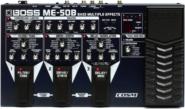 boss me 50b bass multi effects pedal sweetwater rh sweetwater com Effects Pedal Boss Me 50 Guitar Processor Boss Me 50