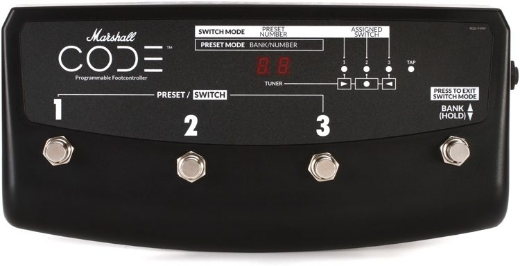 Marshall Pedl 91009 4 Way Footswitch For Code Amplifiers