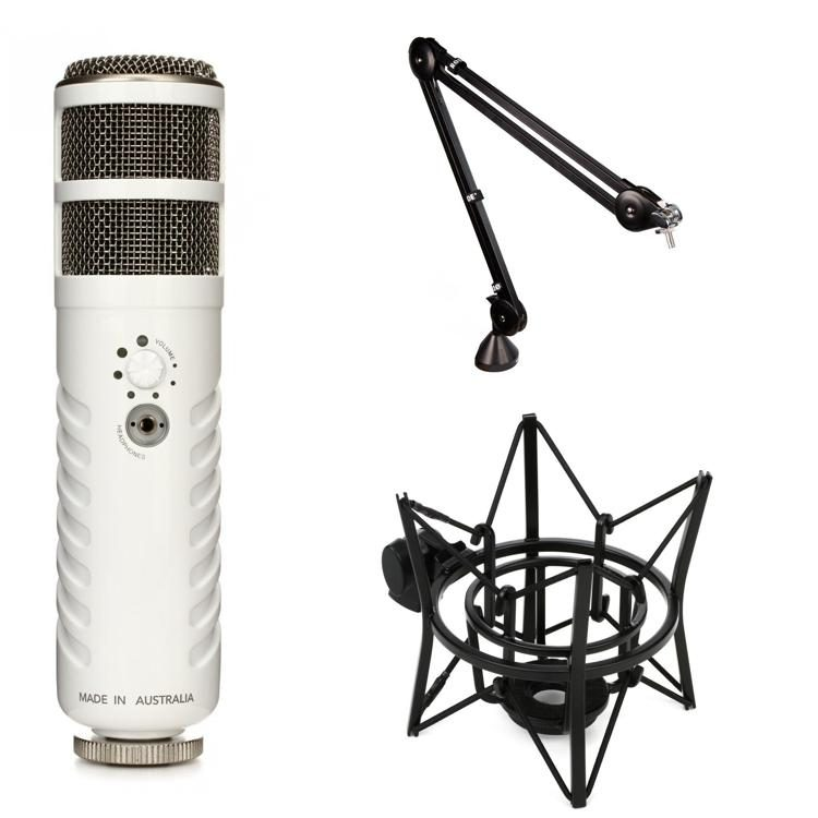 Podcaster Microphone With Boom Arm And Shock Mount