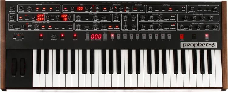 Sequential Prophet-6 6-voice Analog Synthesizer | Sweetwater