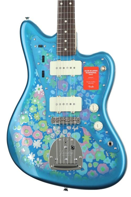 fender made in japan traditional '60s jazzmaster - blue flower