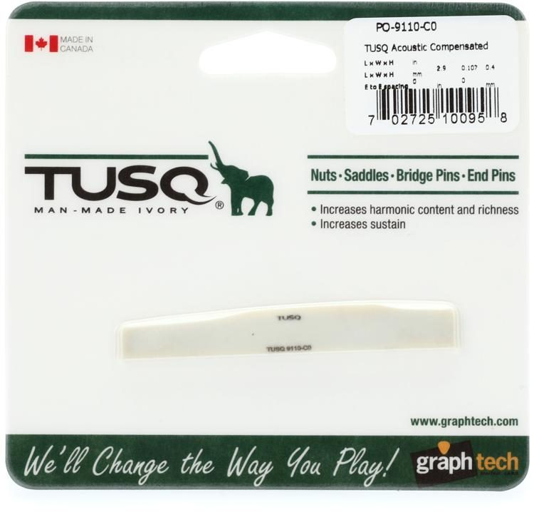 """NEW Graph Tech PQ-9110-00 TUSQ Acoustic Compensated Martin Style 2.9/"""" Length"""
