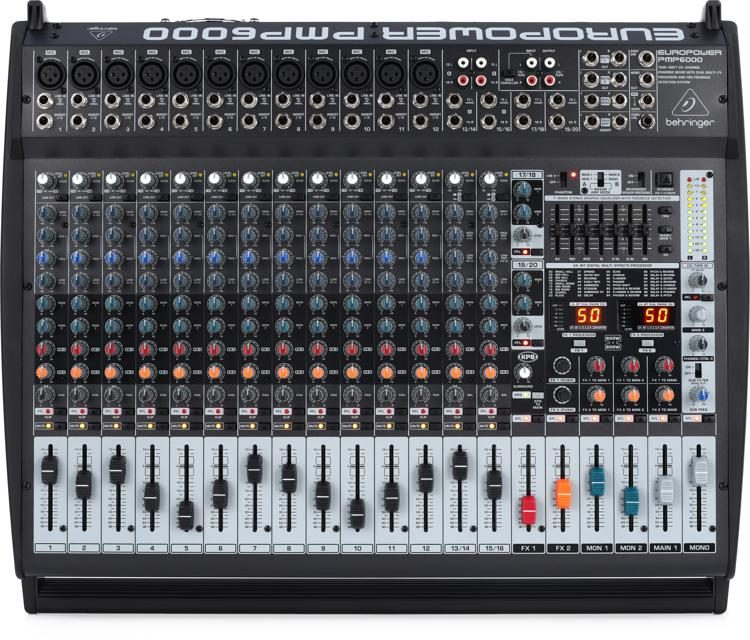 behringer europower pmp6000 20 channel 1600w powered mixer sweetwater rh sweetwater com Europower PMP1680S Manual Europower PMP1680S Manual