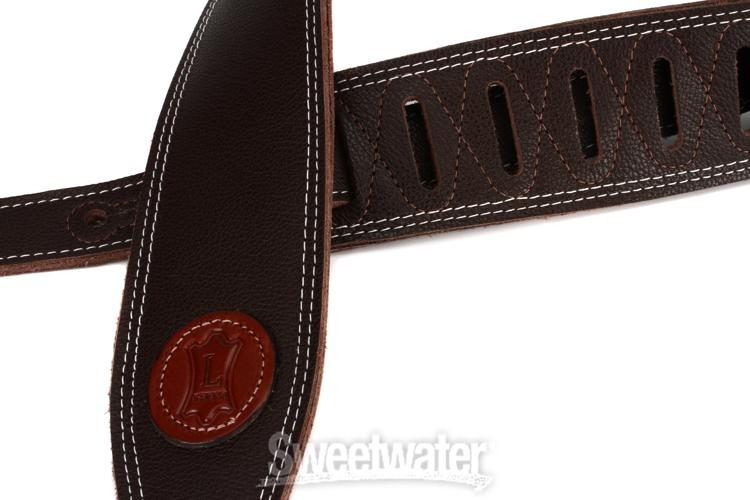M17SS-Tan Levys Leathers M17SS-TAN 2 1//2 Triple-ply Super-Soft Garment Leather Guitar Strap with Contrasting Double Stitching Adjustable from 41 to 55; Tan