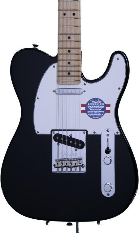 Fender American Standard Telecaster - Black with Maple Fingerboard ...