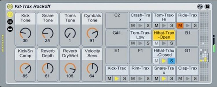 Drum Machines Instrument Pack for Live