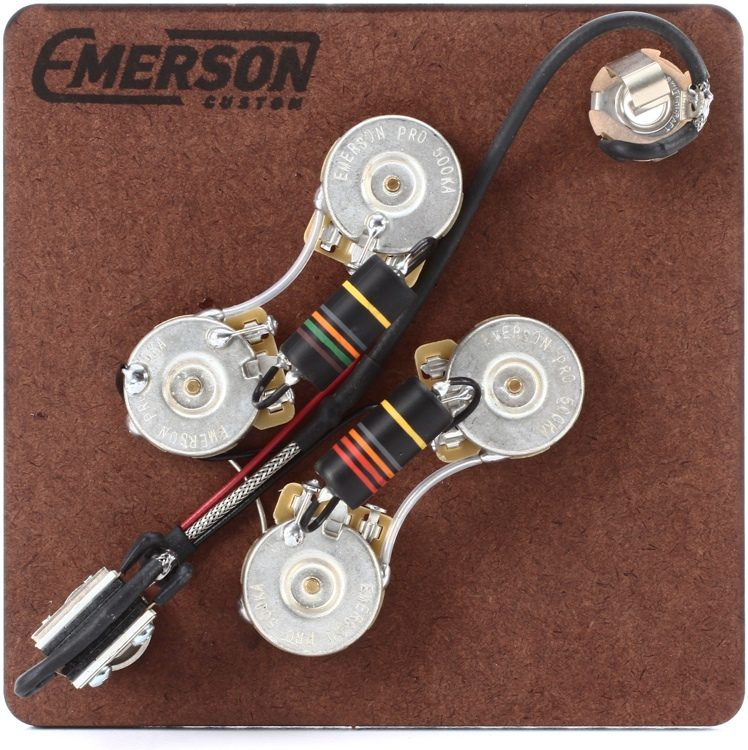 emerson custom prewired kit for gibson sg guitars sweetwater rh sweetwater com emerson guitar wiring harness Wiring Harness Diagram