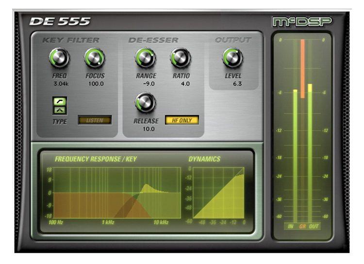 De-esser plugin for vocals