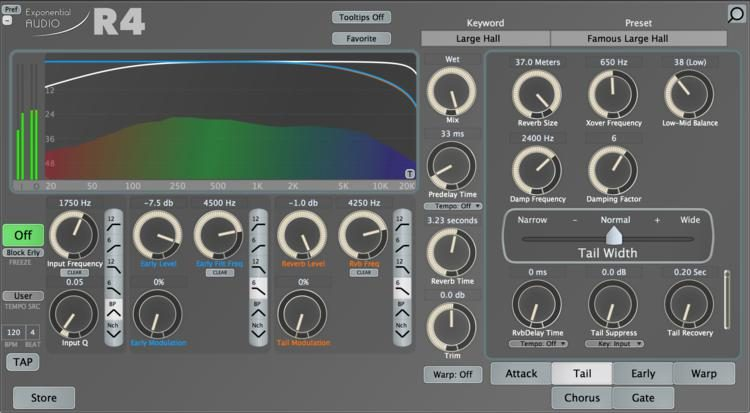 Exponential Audio: R4 - Stereo Reverb Plug-in