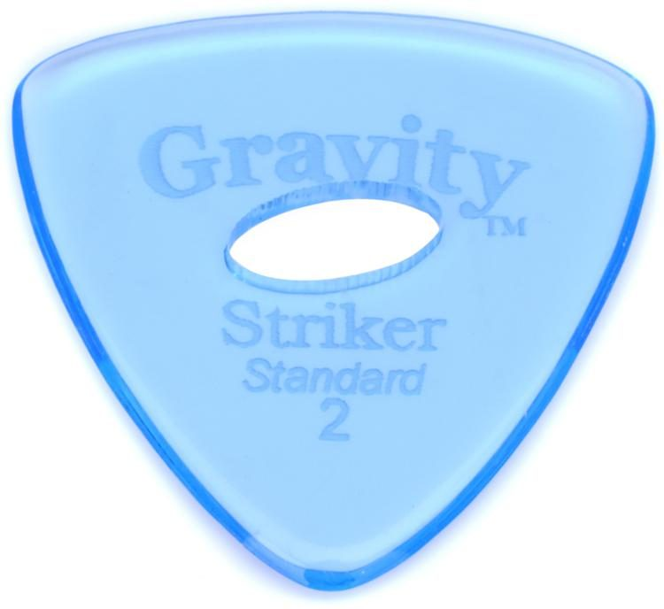 Gravity Sunrise Polished Guitar Pick 2.0mm with Grip Hole